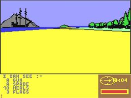 In game image of Treasure Island on the Commodore 64.