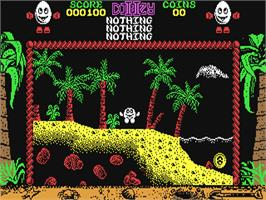 In game image of Treasure Island Dizzy on the Commodore 64.