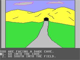 In game image of Troll's Tale on the Commodore 64.