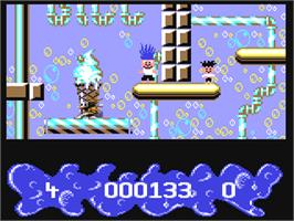 In game image of Trolls on the Commodore 64.