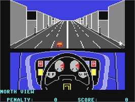 In game image of Turbo Esprit on the Commodore 64.