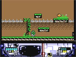 In game image of Turbo the Tortoise on the Commodore 64.