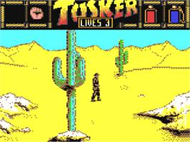 In game image of Tusker on the Commodore 64.
