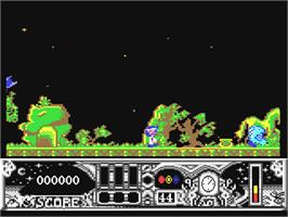In game image of TwinWorld: Land of Vision on the Commodore 64.