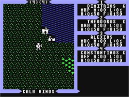 In game image of Ultima III: Exodus on the Commodore 64.