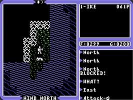 In game image of Ultima IV: Quest of the Avatar on the Commodore 64.