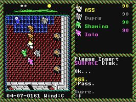 In game image of Ultima VI: The False Prophet on the Commodore 64.