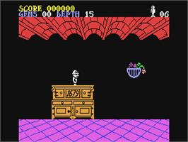 In game image of Underwurlde on the Commodore 64.