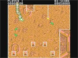 In game image of Volfied on the Commodore 64.