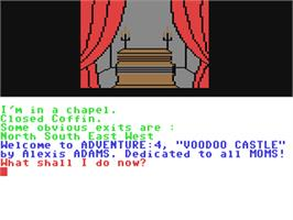 In game image of Voodoo Castle on the Commodore 64.