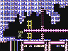 In game image of War Machine on the Commodore 64.