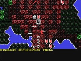 In game image of War of the Lance on the Commodore 64.