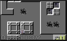 In game image of Warhawk (Pre-Release) on the Commodore 64.