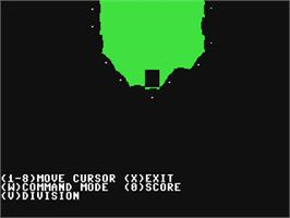 In game image of Warship on the Commodore 64.