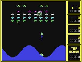 In game image of Wavy Navy on the Commodore 64.