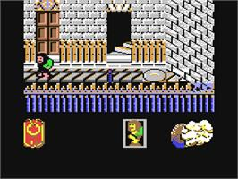 In game image of Werewolves of London on the Commodore 64.