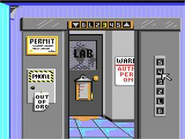 In game image of Where in Time is Carmen Sandiego? on the Commodore 64.
