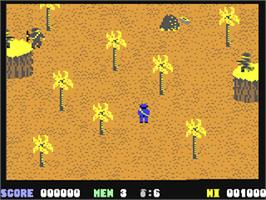 In game image of Who Dares Wins on the Commodore 64.
