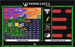 In game image of Windwalker on the Commodore 64.