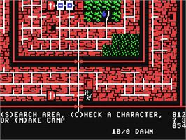 In game image of Wizard's Crown on the Commodore 64.