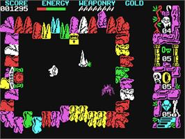 In game image of Wizard's Lair on the Commodore 64.