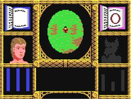In game image of Wizard Warz on the Commodore 64.