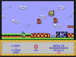 In game image of Wizard Willy on the Commodore 64.