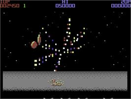 In game image of Wizball on the Commodore 64.