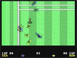 In game image of World Championship Soccer on the Commodore 64.
