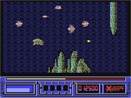 In game image of X-Out on the Commodore 64.