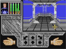 In game image of Xenomorph on the Commodore 64.