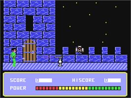 In game image of Xenon on the Commodore 64.