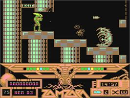 In game image of Zamzara on the Commodore 64.