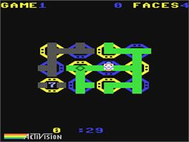 In game image of Zenji on the Commodore 64.