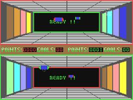 In game image of Zero Gravity on the Commodore 64.
