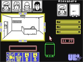 In game image of Zombi on the Commodore 64.