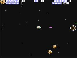 In game image of Zone Ranger on the Commodore 64.
