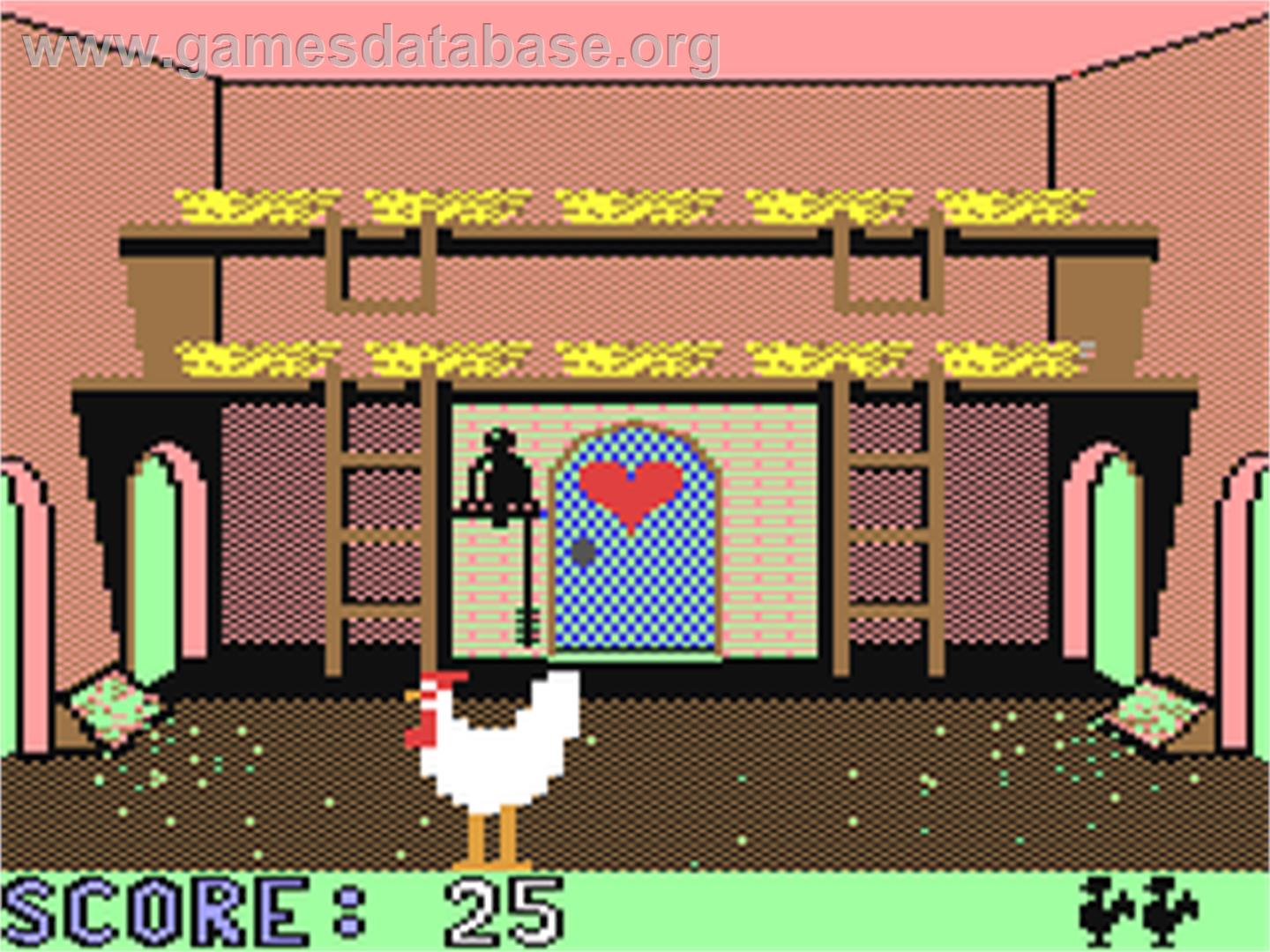 Chickin Chase - Commodore 64 - Artwork - In Game