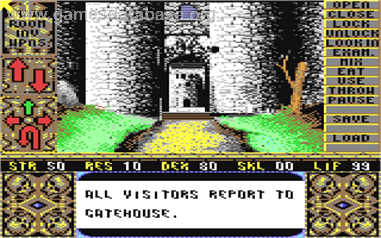 Elvira: Mistress of the Dark - Commodore 64 - Artwork - In Game