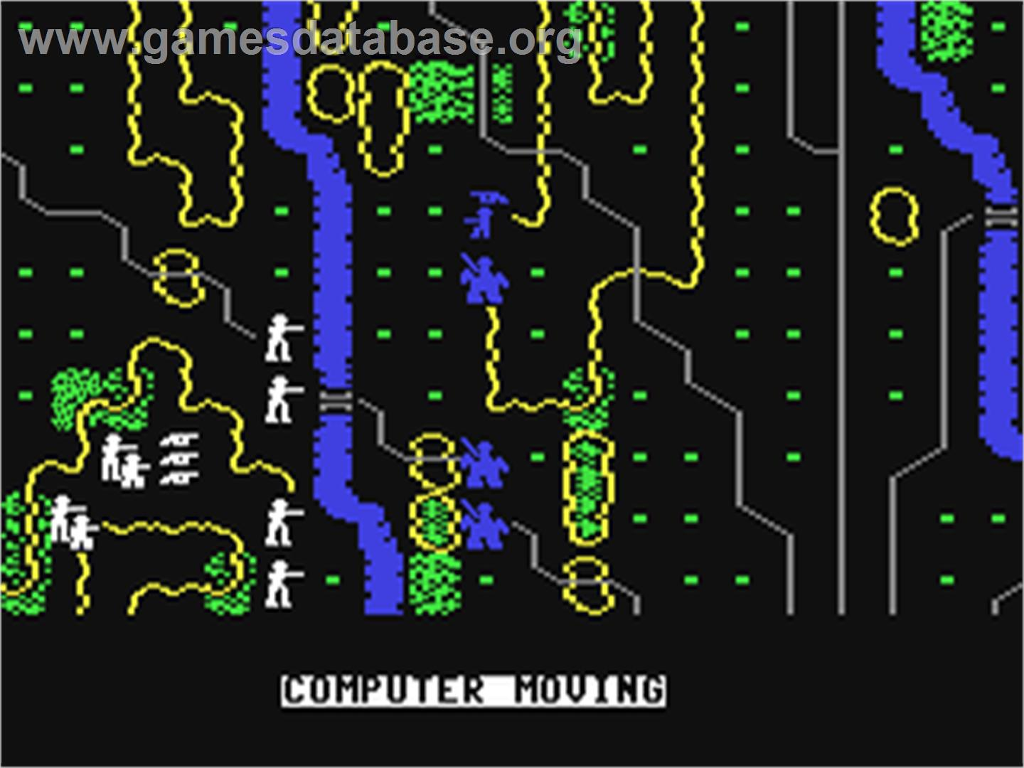 In game image of Gettysburg: The Turning Point on the Commodore 64.