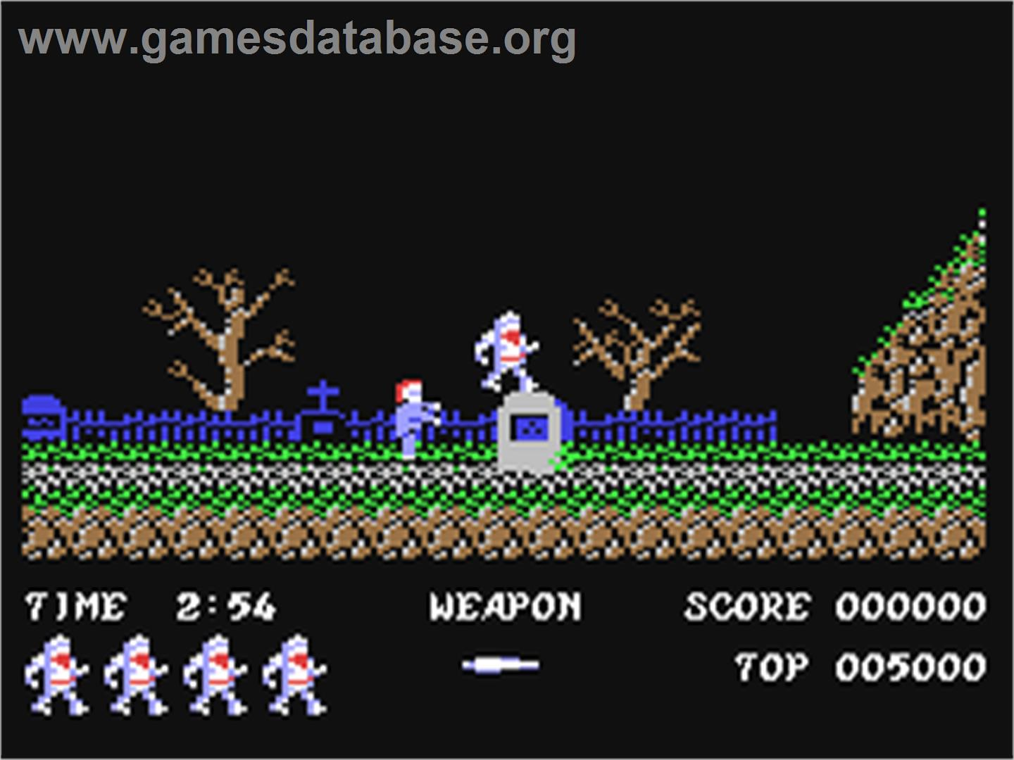 Ghosts'n Goblins - Commodore 64 - Artwork - In Game