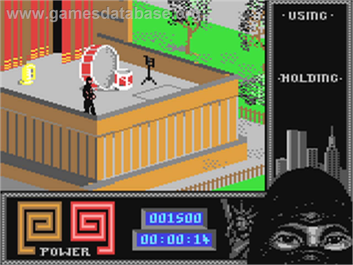In game image of Last Ninja 2: Back with a Vengeance on the Commodore