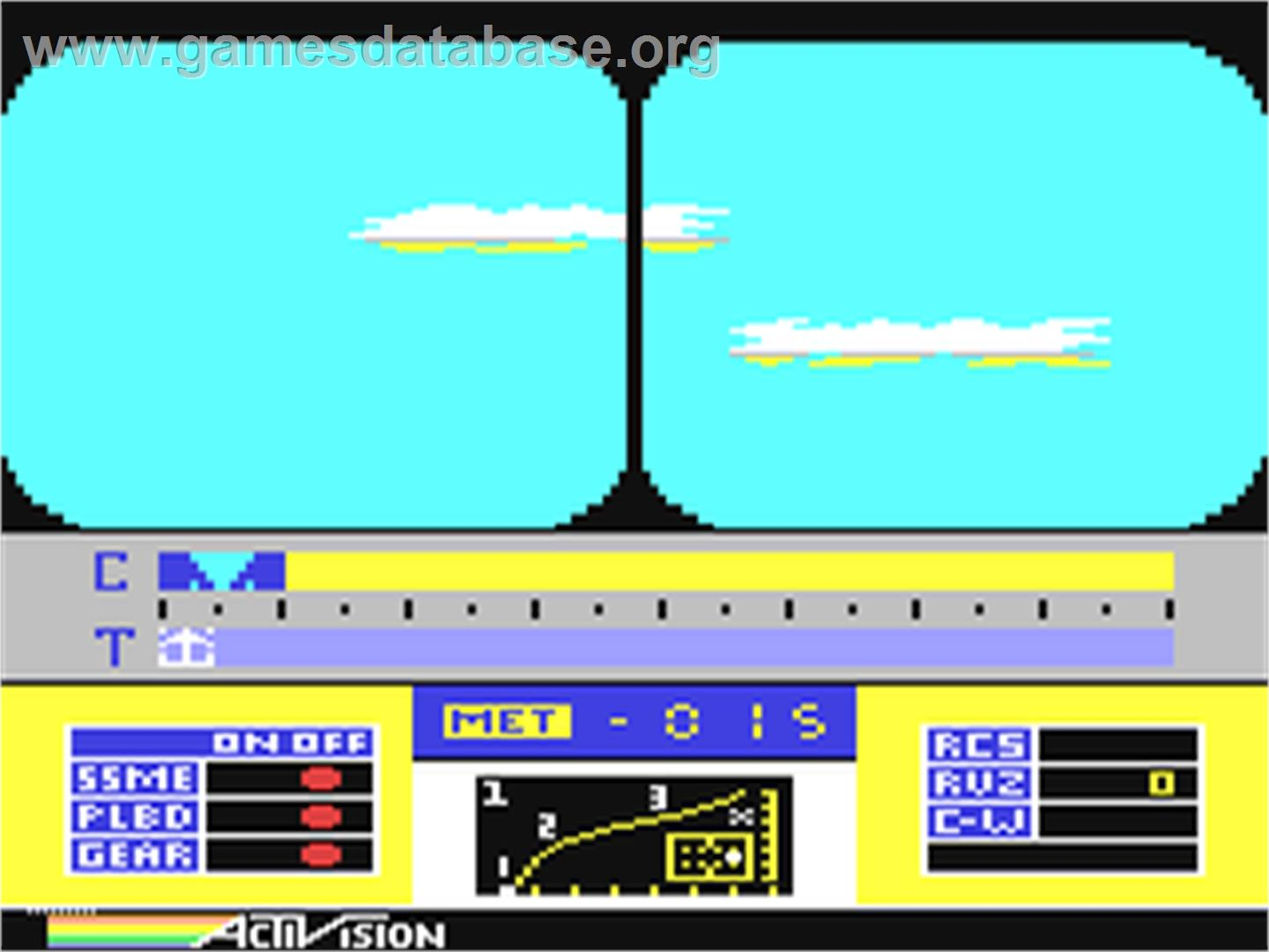 Space Shuttle: A Journey into Space - Commodore 64 - Artwork - In Game