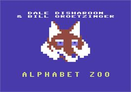 Title screen of Alphabet Zoo on the Commodore 64.