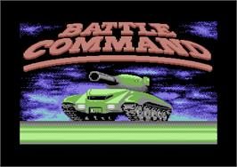 Title screen of Battle Command on the Commodore 64.