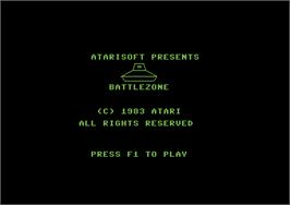 Title screen of Battlezone on the Commodore 64.
