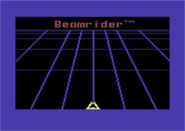 Title screen of Beamrider on the Commodore 64.