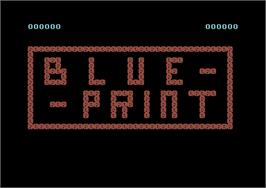 Title screen of Blue Print on the Commodore 64.