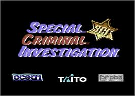 Title screen of Chase H.Q. II: Special Criminal Investigation on the Commodore 64.