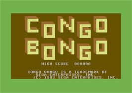 Title screen of Congo Bongo on the Commodore 64.